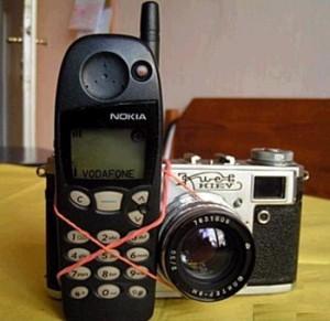Oldschool kameratelefon