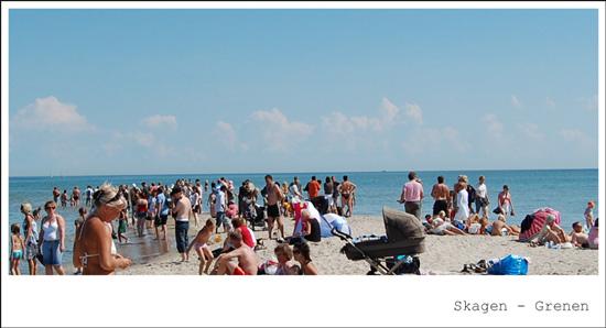Skagen - Grenen - Mange mennesker
