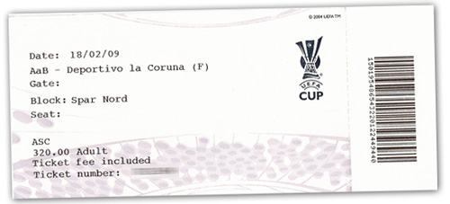Billet til AaB - Deportivo La Coruna