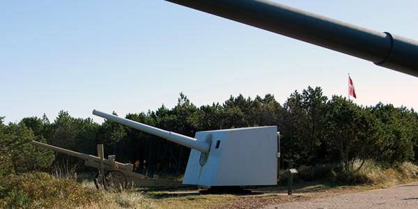 Kanoner ved bunkeranlæg Hanstholm