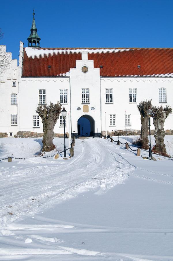 Kokkedal slot i sneen