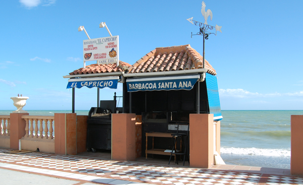 Restaurant ved stranden