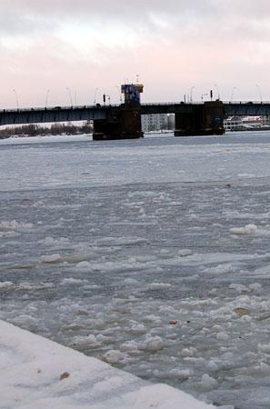 Vinter ved Limfjordsbroen